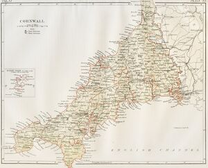 Cornwall map 1884