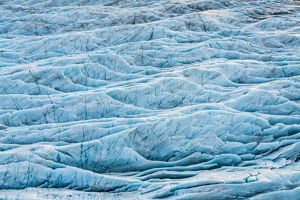 Crevasses and cauldrons in a glacier, Iceland