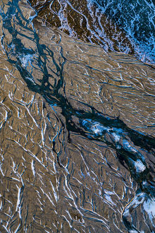 Crooked Glacial River Bed, Iceland