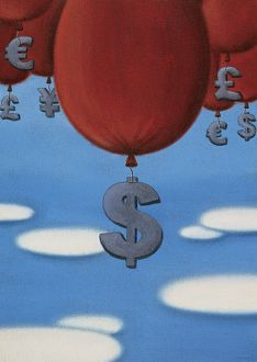 art/mandy pritty/currency symbols attached balloons dollar symbol