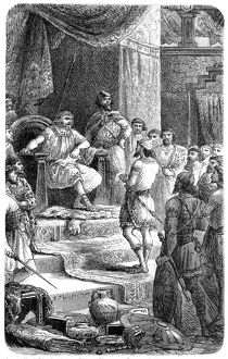 David receives envoys of King Hiram of Tyre (1 Chronicles 14)