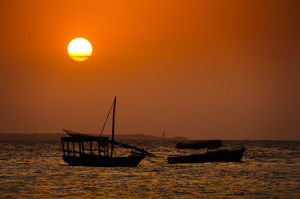 Dhows at Sunset
