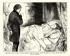 Dickens, David Copperfield, He was fast asleep; lying, easily