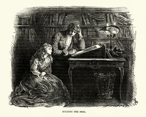 Dickens, David Copperfield, Holding the pens