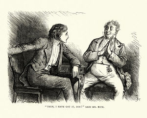 Dickens, David Copperfield, I have got it, boy! said Mr Dick