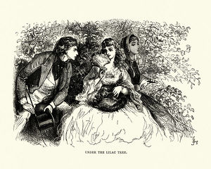 Dickens, David Copperfield, Under the lilac tree.
