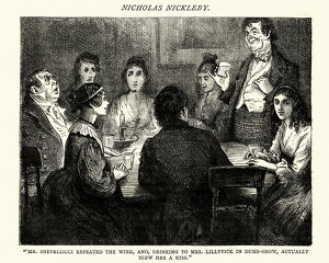 Dickens, Nicholas Nickleby, Mr Snevellicci repeated the wink