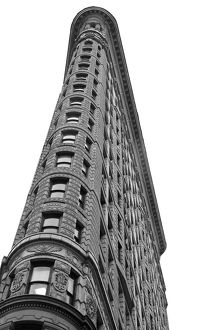 architecture/iconic buildings world dramatic looking flatiron building/distinctive triangular shaped flatiron building