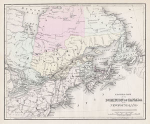 Dominion of Canada map 1877