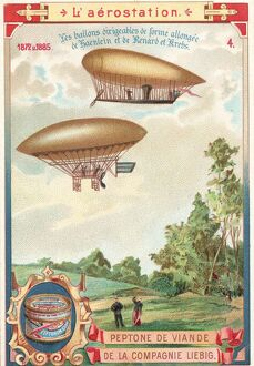 Early Steerable DIrigibles In Flight
