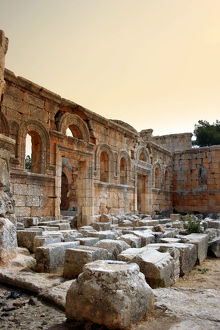 East Basilica at the Church of Saint Simeon Stylites, Syria.