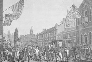 Election In Front Of State House, PA, 1815.