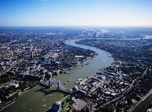 England, London, cityscape, aerial view