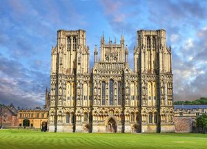 travel/photographer collections paul williams funkystock/facade medieval wells cathedral built early english