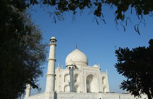 Facade of the Taj Mahal, Agra, Uttar Pradesh, India