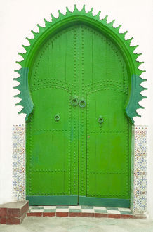 green doorway