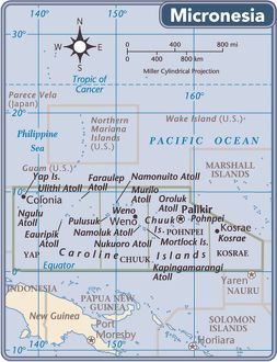 Fed. States of Micronesia country map