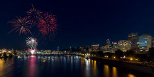 Fourth of July Fireworks in Portland Oregon