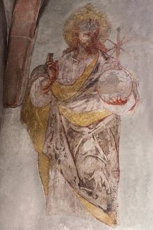 Fresco by Jesus from the 16th century, St. Egidien Church, Beerbach, Middle Franconia