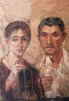 Fresco portraying Terentius Neo and his wife