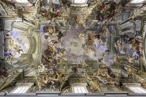 Frescoed ceiling of a cathedral in Rome