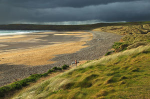 Freshwater West beach on the Pembrokeshire coastal path in Southwest Wales
