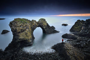 global landscape views/fred concha photography/gatklettur arch rock iceland
