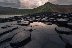 Giant's Causeway on moody morning