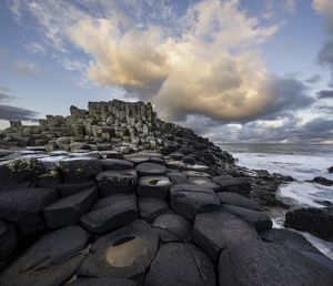 Giant's Causeway during sunrise in Autumn