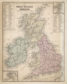 Great Britain and Ireland map 1867