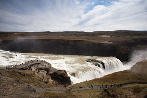 Gullfoss waterfall, Golden Circle, southern Iceland, Iceland, Europe