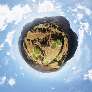 Hakone Yunohana Golf Course's 360° Aerial Little Planet
