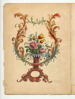 Handcolored Frontispiece Victorian Botanical Illustration