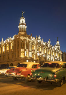 Havana. Old cars and Grand Theater