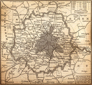 Historic map of London (18th Century)