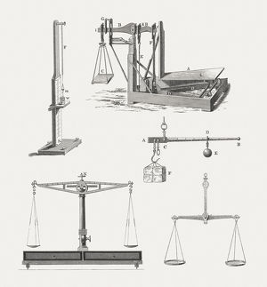 Historical scales, wood engravings, published in 1880