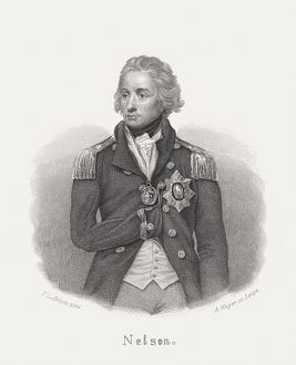 Horatio Nelson (1758-1805), British Admiral, steel engraving, published in 1868