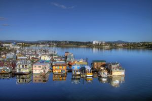 House Boats at Fisherman's Wharf in Victoria BC