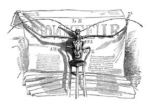 Humanized animals illustrations: Insect reading news