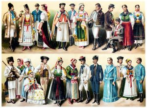 Hungarian national costumes