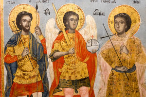 Icon of Apostles in crypt of Alexander Nevsky Cathedral