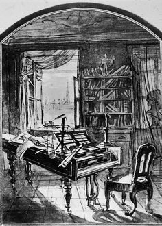 Illustration Of Beethoven's Study