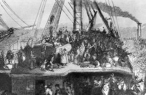 Immigrants Aboard a Ship