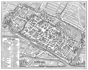 The imperial city of Worms , Germany map