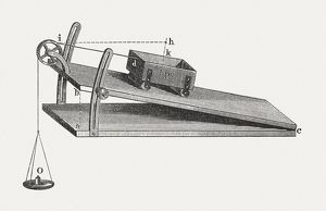 Inclined plane, wood engraving, published in 1880
