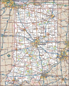 Indiana highway map