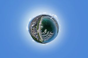 Jet d'Eau Geneva in 360A° Aerial Perspective