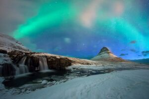 Kirkjufell with Northern Light