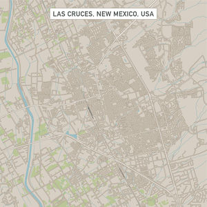 Las Cruces New Mexico US City Street Map