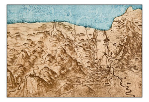 Leonardo's sketches and drawings: map of Tuscany coast